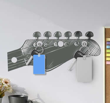 Electric guitar coat hanger decal