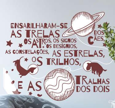 Autocolantes de música Canção de Miguel Araújo