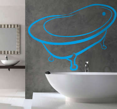 Bathroom Stickers - illustration of a classic bathtub design. Great decal designs at great prices for your home or business.