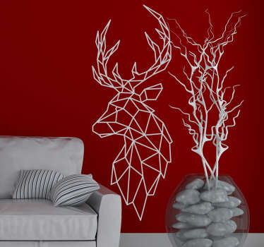 An origami animal wall art decal to decorate your wall at home with class. This design can be in any colour that you prefer. Easy to apply design.