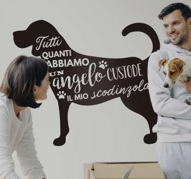Usa un adesivo murale per la casa con frase sul cane per ribadire l'importanza del tuo amico a quattro zampe! Più di 50 Colori!