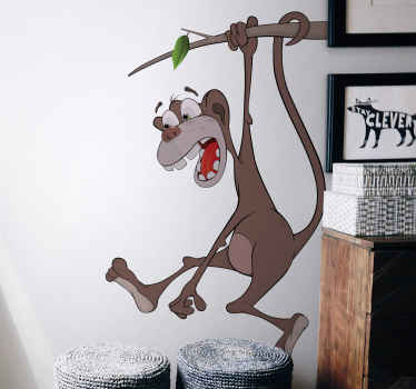 A funny decal for your child's room. A great design from our monkey wall stickers collection. Fill that empty wall with something you'll love.