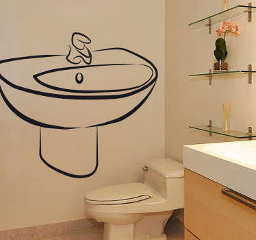 Sticker decorativo lavello con rubinetto