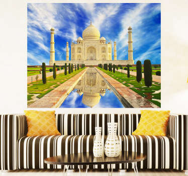 Photo Murals  - Captivating and vibrant shot of the Taj Mahal. Ideal for adding colour and culture to any room.