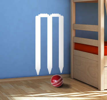 Cricket sport wall sticker with the design ofcricket post. Available in different colors and size options. Easy to apply.
