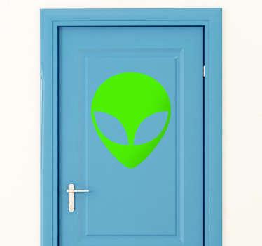 Sticker hoofd van alien