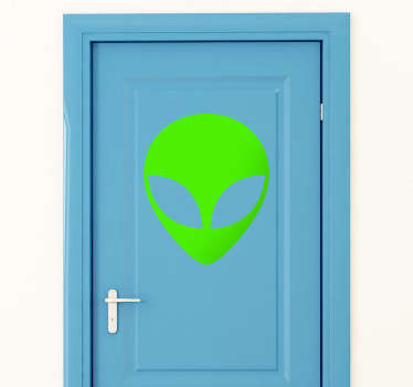 Sticker decorativo icona extraterrestre