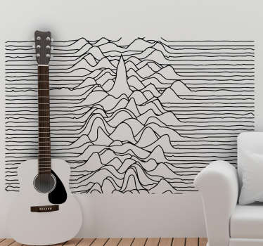This cool music wall sticker is perfect for your living room or bedroom with the black and white design, remembering of contour lines.