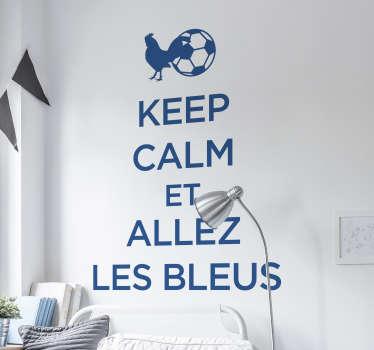 Sticker Mural Foot allez les bleus