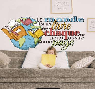 Sticker Mural bibliothèque journée des livres
