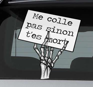 Sticker Texte squelette drôle