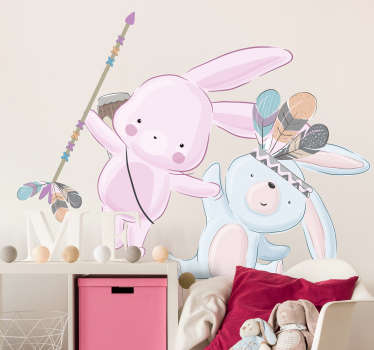 Animal wall sticker for kids bedroom created with funky and beautiful colours for kids. This design is just everything to decorate the infant's room.