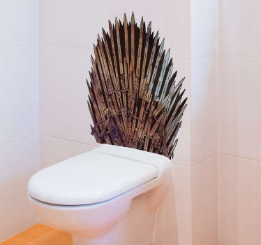 Bathroom decal of game of throne design that will create a kingship  and power when you use your bathroom space. The product is very easy to apply.