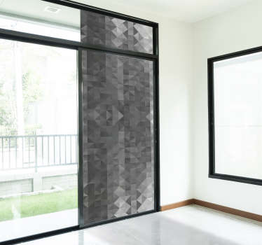 Abstract squares window decal