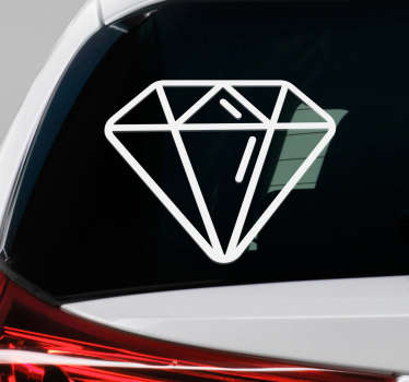 Diamond window sticker