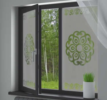 Original Mandala window decal