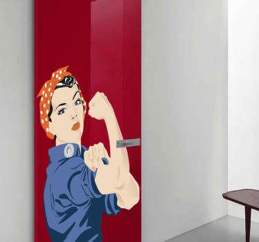 Rosie the Riveter Wall Sticker
