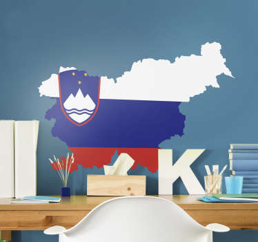 Nalepka za steno slovenske zastave, s katero lahko okrasite sobo vašega najstnika in jo lahko uporabite tudi kjerkoli po želji. To je kakovostna zasnova.