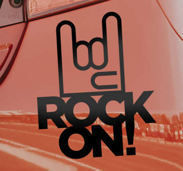 Rock music symbol car decal to decorate the surface of your car. This design can be in any colour and size of your choice. Easy to apply design.