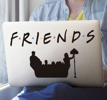 Friends tv movies series decal for mackbook to beautify your laptops and tablets. This design is very easy to apply and you can chose the size.