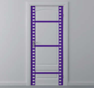 Roll film decorative sticker for the movie and photography lovers. Superb decal to decorate your door.