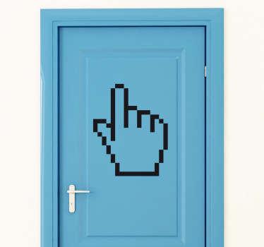 Sticker decorativo icona mano cursore