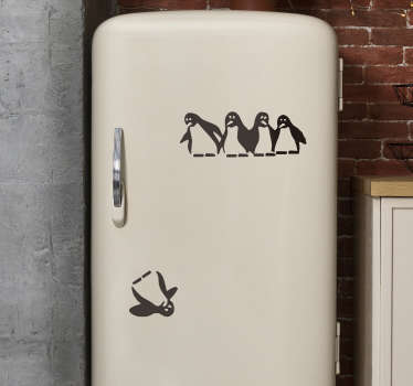 Cayo penguin fridge wrap decal design for your fridge. This design is created with the penguin bird and you can apply it separately however you want.