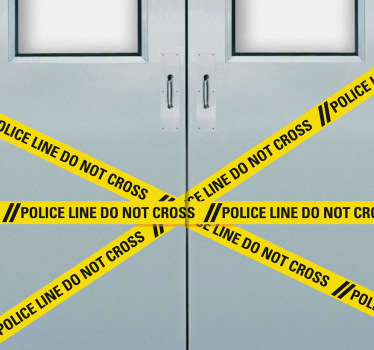 This police tape sticker is perfect for creating prohibited areas Can be a fun sticker for kids to put on their bedroom door! A kid´s bedroom door sticker that keeps other members of the family out the room .