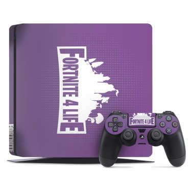 Personalize your PS4 with this awesome PS4 skin decal from Fortnite and amazed your friends with your unique videogame console.