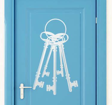 Sticker décoratif trousseau de clefs