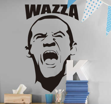 A  black colour Wayne Rooney football victory wall sticker for inspiration for sport lovers. This design is of high quality and easy to apply.