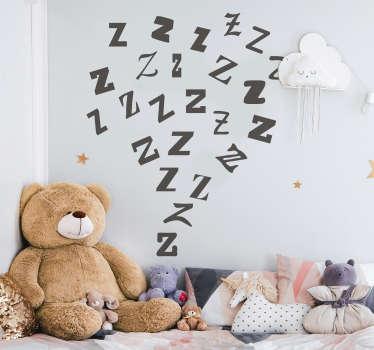 Autocolantes decorativos infantis ZZZZ