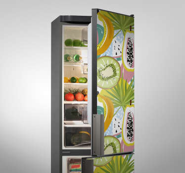 Coloured Fruit refrigerator fridge wrap  sticker that is amazing for the body of your refrigerator and you can choose any size that suit your space.