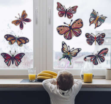 Butterfly window decoration window wall sticker in mixed colour for all your glass surface. This product is made of very high quality material.
