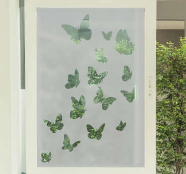 Butterflies are beautiful and you will love to have this flying butterfly window sticker on your window and any glass surface of your choice.