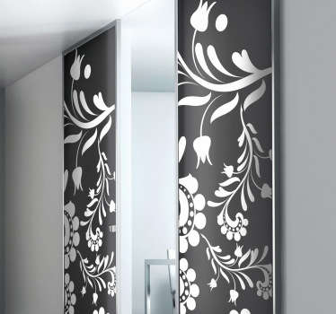 Floral Door Flowers Decal