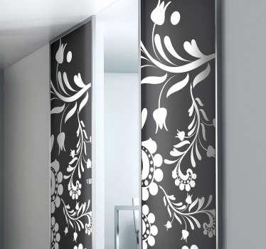 Sticker décoratif porte florale