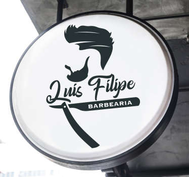 Um vinis decorativos para barbearia que caiba no seu lugar. Este produto pode ser facilmente aplicado e pode tê-lo no tamanho que desejar.
