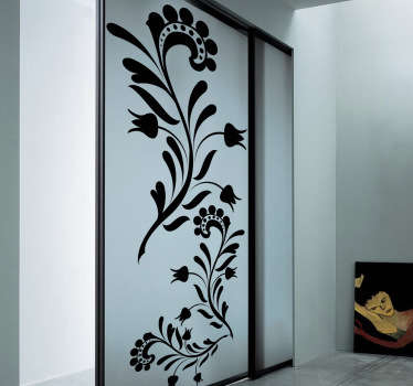 Original floral wall sticker to decorate your walls, doors, cupboards and more. Available in various sizes and 50 different colours allowing you to fully customise the design to the way you like. Beautiful flower sticker to add a touch of style and nature to your home decor.