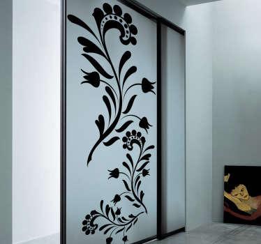 Wandtattoo abstrakte Blumenranke