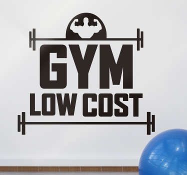 An inspiration with low cost gym wall sticker to inspire your gym and this product is made of high quality material and you request your in any size.