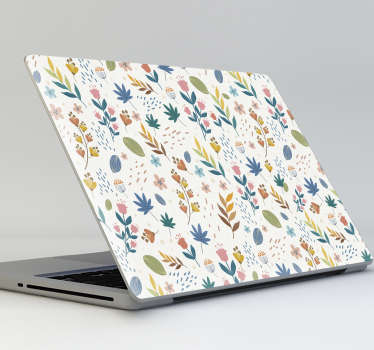A beautiful coloured floral patterned wall sticker for your computer and also on your wall at home. This design can be in any size of your choice.