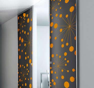 Abstrakt cirklar design klistermärke