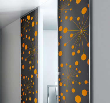 Sticker porte motif floral