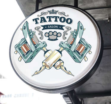 Tattoo piercing art wall vinyl sticker for shops and and lovers of tattoo. This product is of high quality matte and does not reflect with light.
