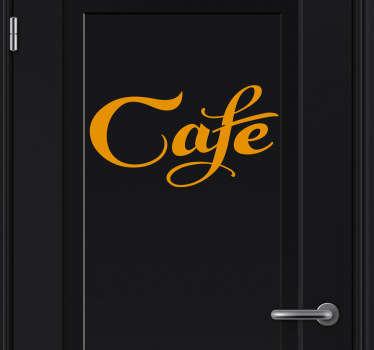 Sticker deur café
