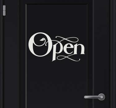 "Aufkleber Icon ""open"""