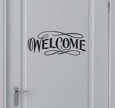 Naklejka na drzwi welcome
