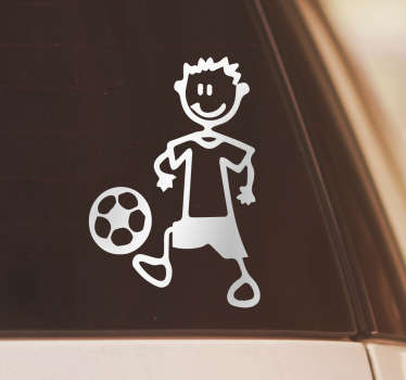 A football player  wall sticker for your car and vehicle to show your support and love for the sport. This design is very high quality.