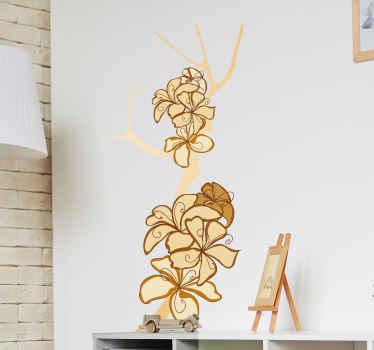Naklejka dekoracyjna gałąź z kwiatami
